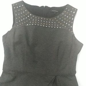 Nanette Lepore Gray Ponte Shift Dress sz 8